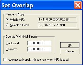 MP3 Splitter - Split with Overlap